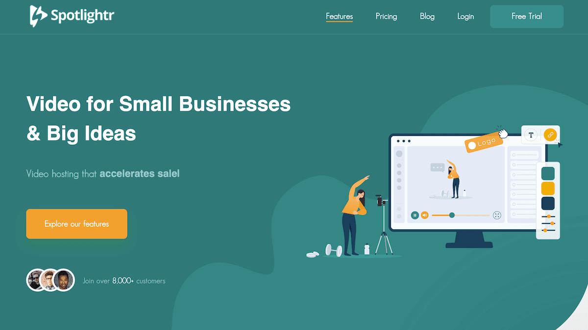 Spotlightr homepage screenshot.