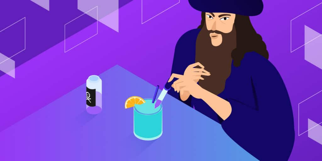 Featured image illustration for DNS Poisoning showing a shady person mixing poison in a drink.