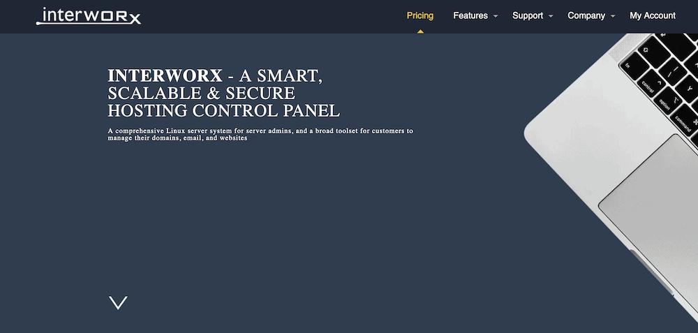 Il sito web di InterWorx