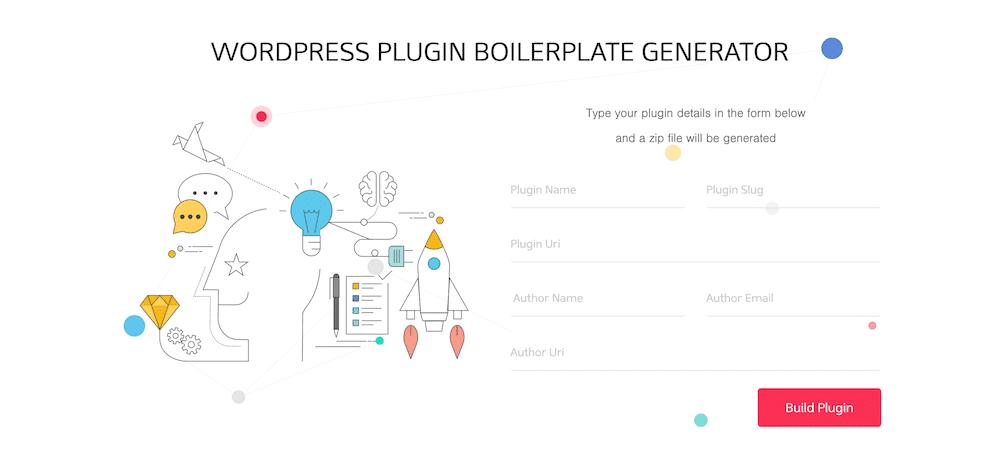 El generador de plantillas de plugins de WordPress.