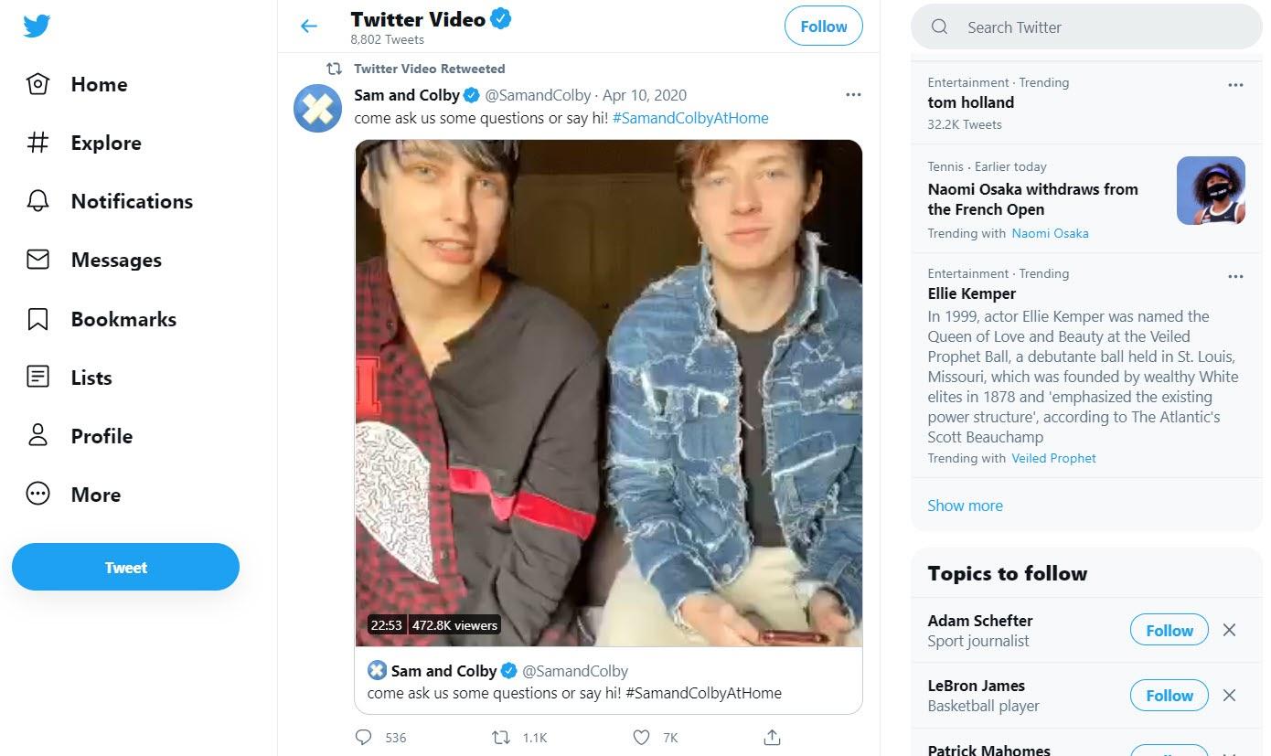 Twitter Video screenshot.