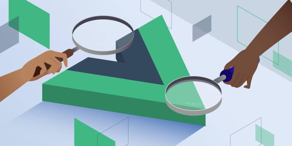 Vue.js, featured image, illustration.