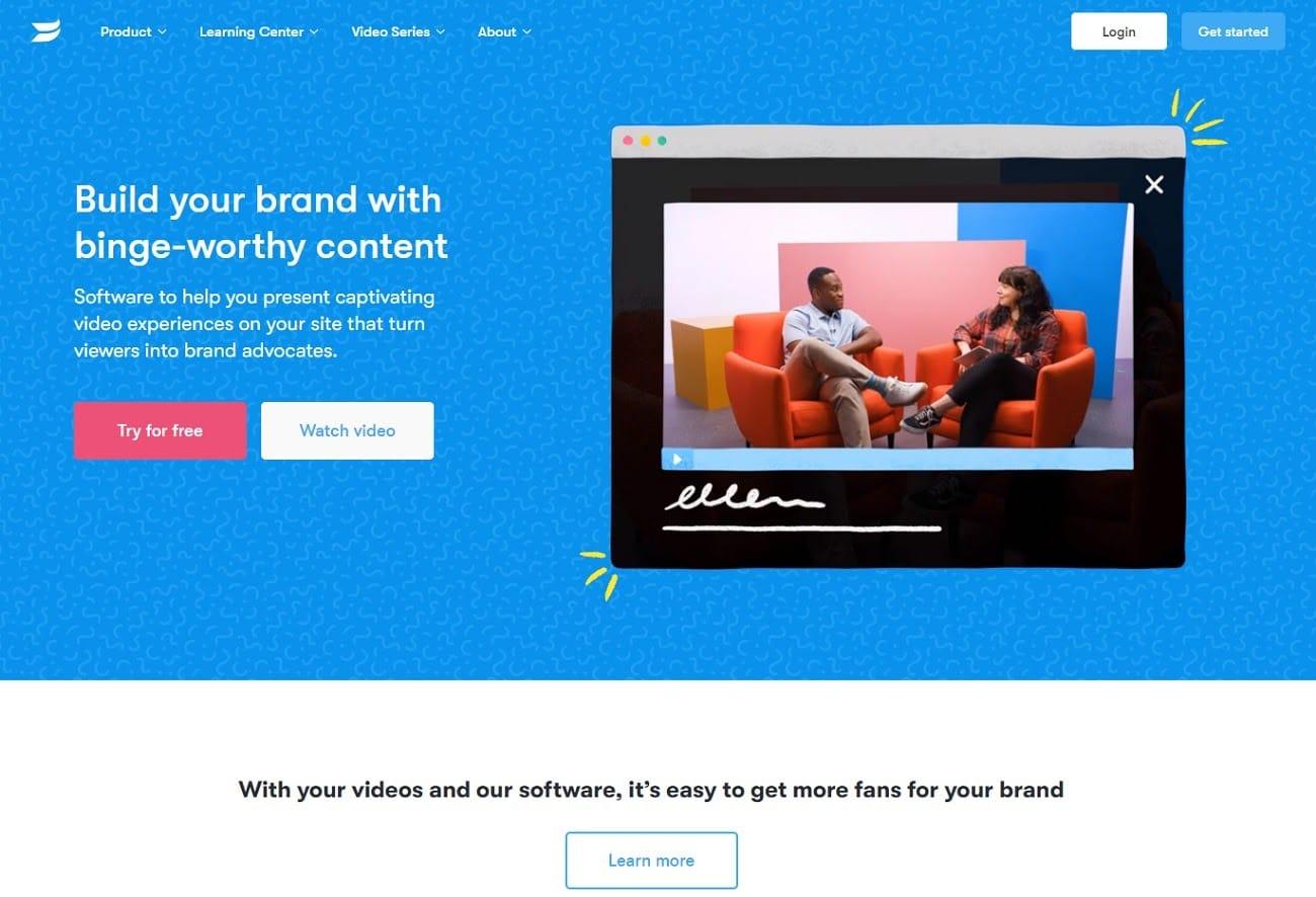 Wistia homepage screenshot.