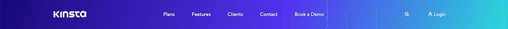 Un ejemplo de menú de WordPress