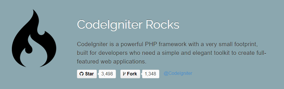 CodeIgniter is a popular PHP web development framework.