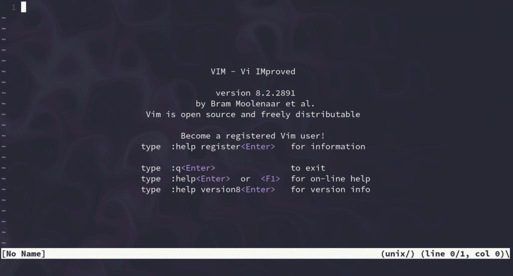 The vim text editor.
