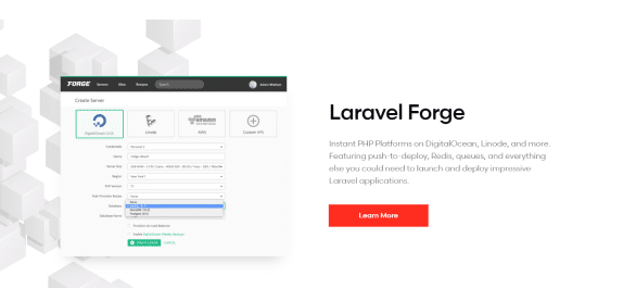Laravel is the most popular PHP framework for web development.