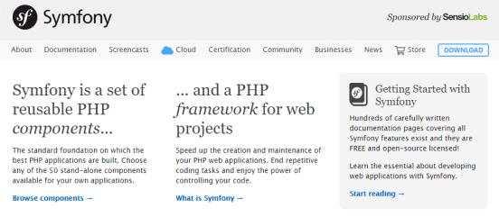 Symfony is another popular PHP web development framework.