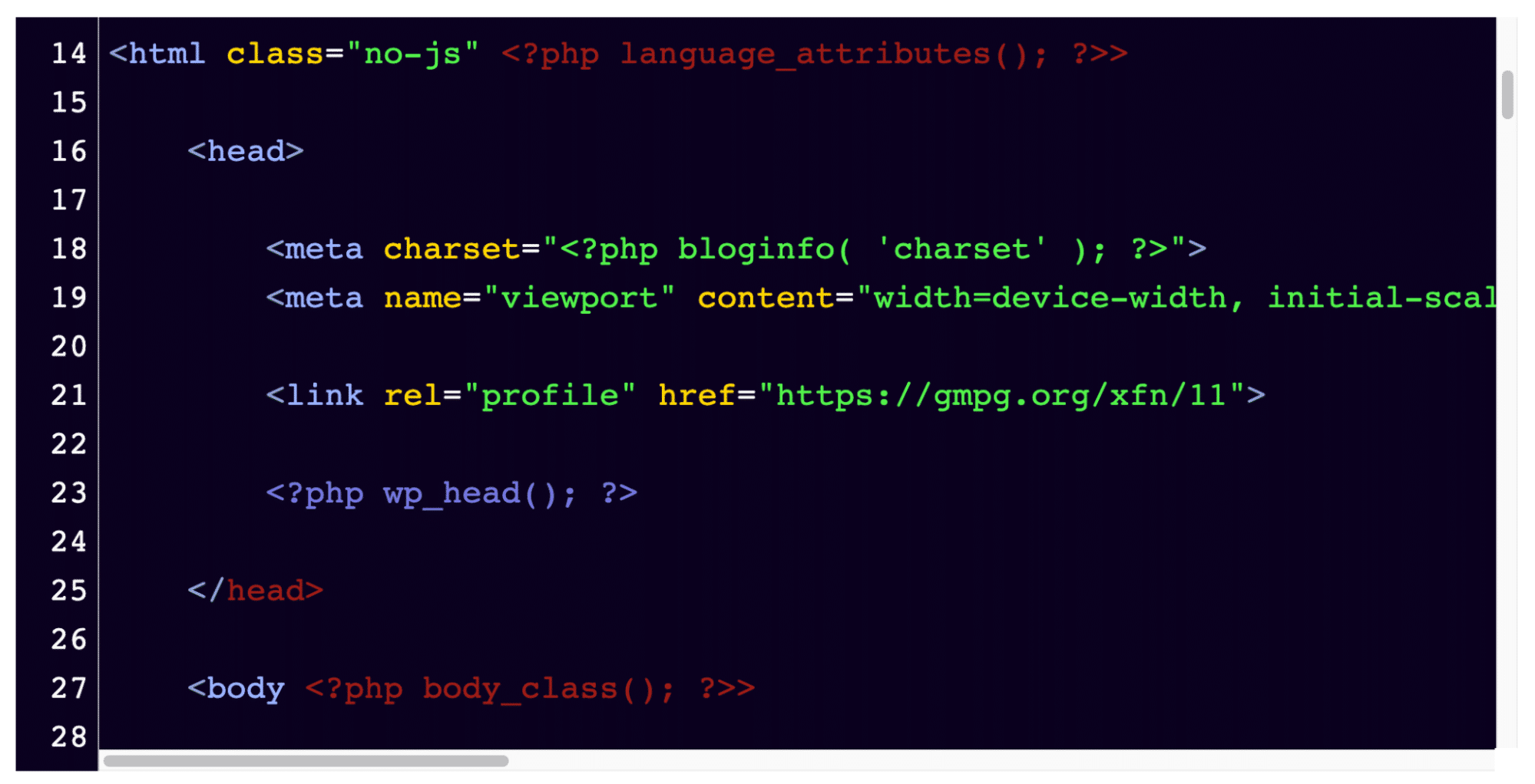 Make sure this is what the snippet looks like in your wp-config.php file