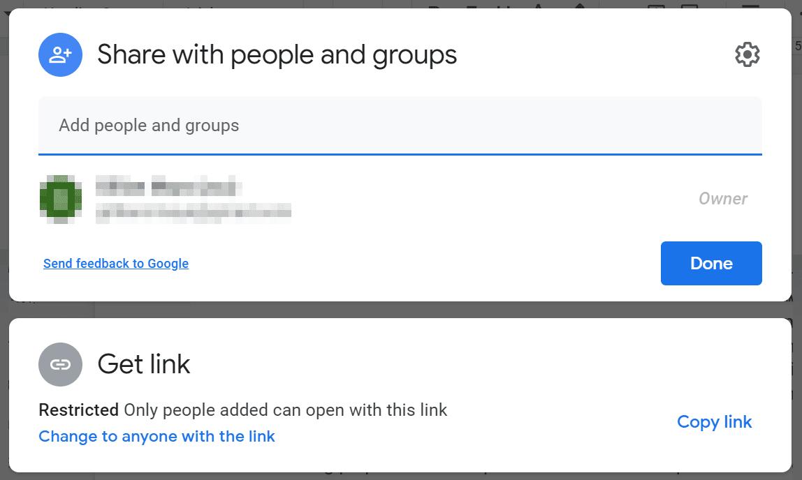 A screenshot of Google Drive's