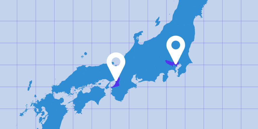Kinsta hosting in Tokyo and Osaka.