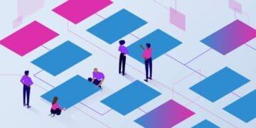 Featured image illustration for WordPress Menu showing people deciding on choosing a menu panel.