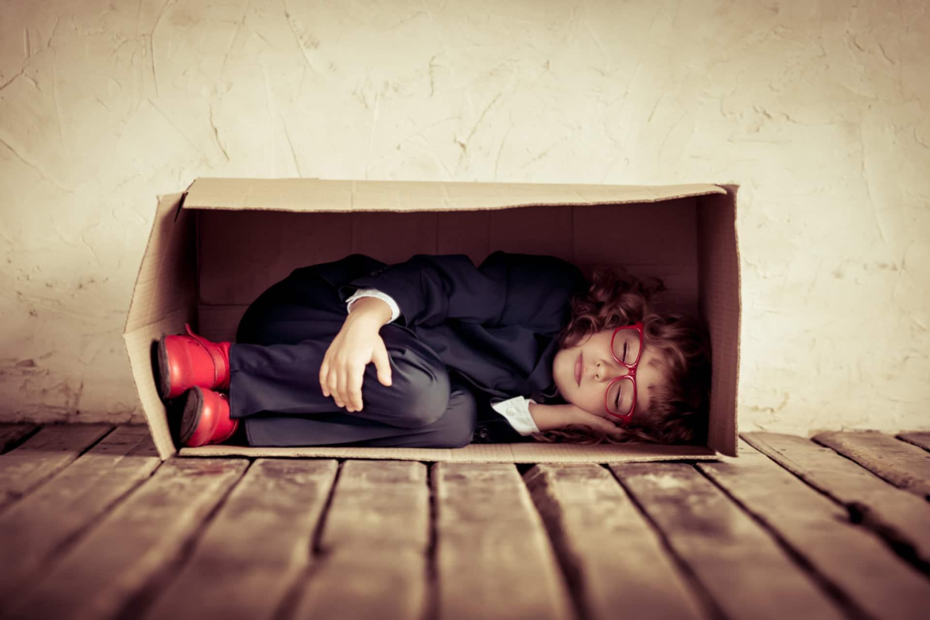 Piense fuera de la caja o falla